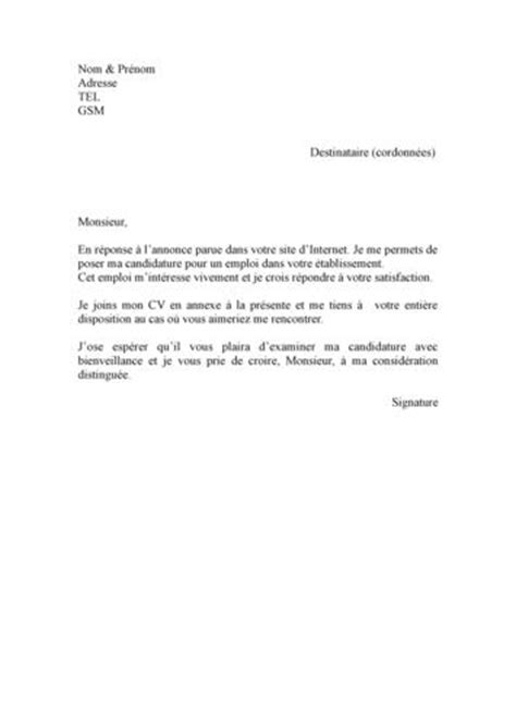 Lettre De Motivation Lettre Facile lettre de motivation facile employment application