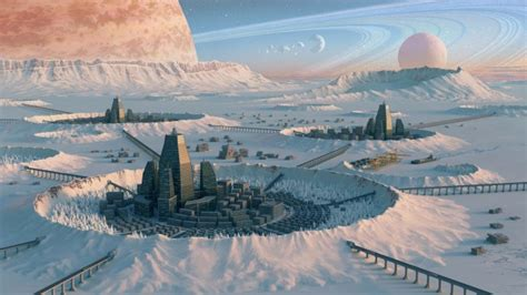 wallpaper planet surface ring system saturn sci fi