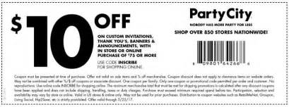 Bed Bath Coupons Party City Coupon 10 Off Invitations Amp Banners When You