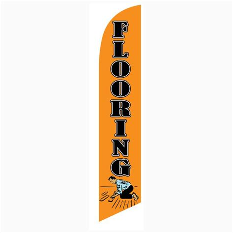 mobile pole flooring flooring orange 12ft stock feather flag kit with pole and