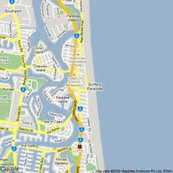 map of surfers paradise queensland australia images