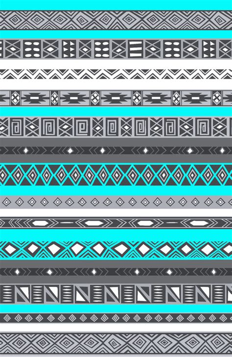 aztec pattern wallpaper for iphone ice mint blue grey aztec pattern iphone art print by