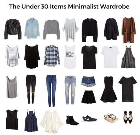30 Item Wardrobe by How To Create A Minimalist Wardrobe Free Essentials