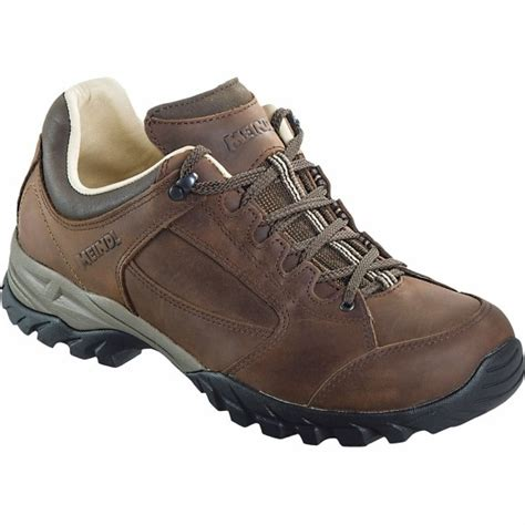 meindl lugano mens comfort leather lined hiking shoes 163 137 00