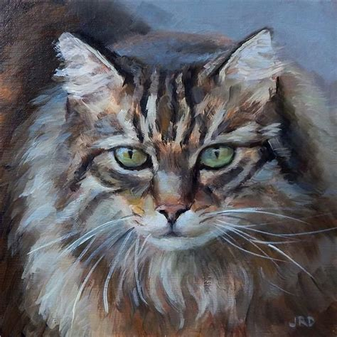 paint a cat this painting from ugallery fluffy cat by j