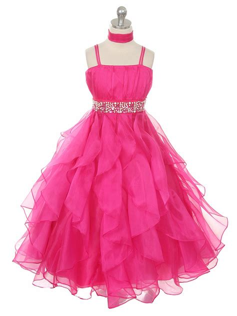 Special Dress fuchsia organza special occasion dress