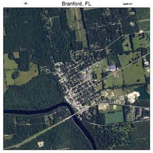 aerial photography map of branford fl florida