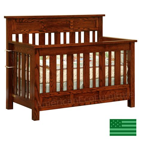 Baby Cribs Solid Wood by Amish Houston 4 In 1 Convertible Baby Crib Solid Wood