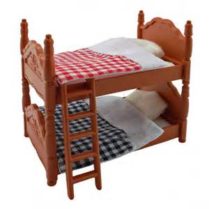 plastic bunk bed quilt for sylvanian families furryville
