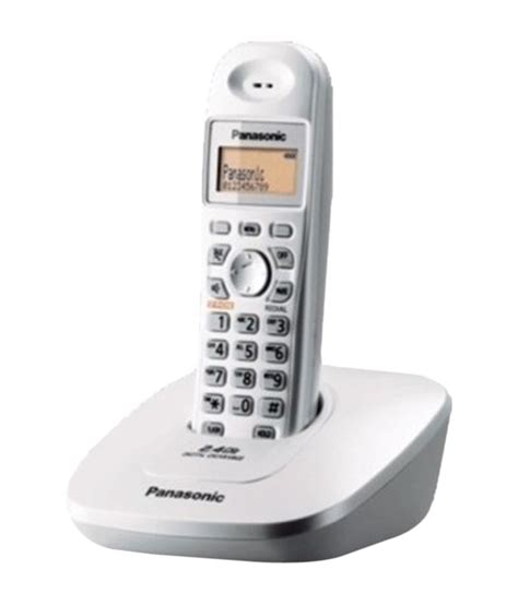 Panasonic Cordless Phone Kx Tge274 Silver buy panasonic kxtg 3615bx cordless landline phone silver at best price in india snapdeal