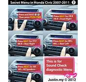 Secret Menu In Honda Civic 2007 2011 – Justinmy
