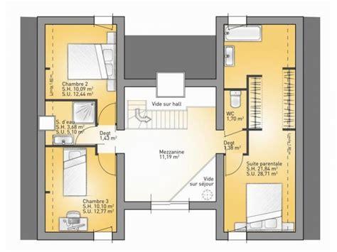 chambre parentale moderne plans de maison 1er 233 tage du mod 232 le concept maison