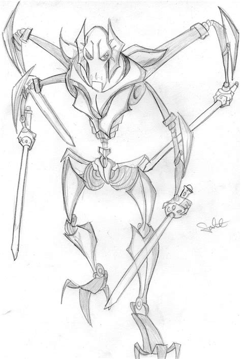 General Grievous Coloring Pages Printable Coloring Home General Coloring Pages