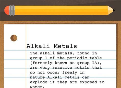 alkali metals presentation screen 2 on flowvella