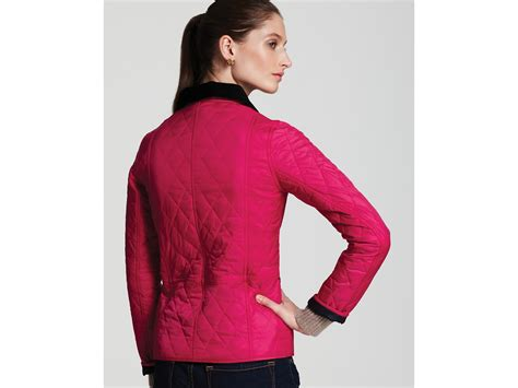 Barbour Pink Quilted Jacket by Barbour Summer Liddesdale Quilted Jacket In Pink Lyst