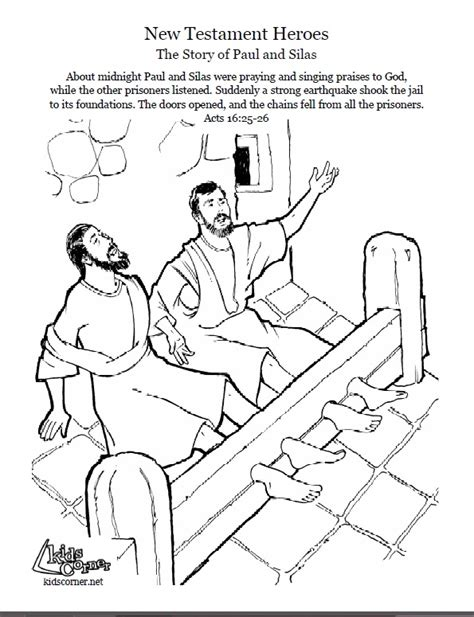 free coloring page paul in prison paul and silas coloring page audio bible story and
