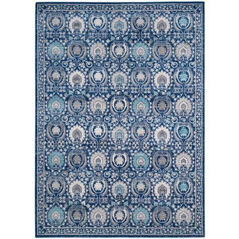 blue area rug 8 x 10 safavieh evoke blue ivory 8 ft x 10 ft area rug evk251c 8 the home depot