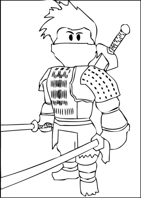 cool coloring pages games a free printable roblox ninja coloring page kids