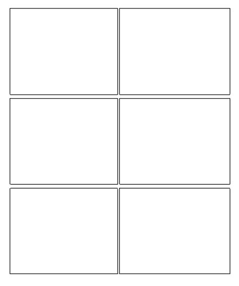 comic book template 6 box comic template grade 6