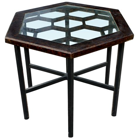 Hexagonal Table by Midcentury Retro Style Modern Architectural Vintage