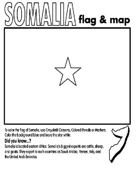 Somalia Free Coloring Pages Somalia Flag Coloring Page