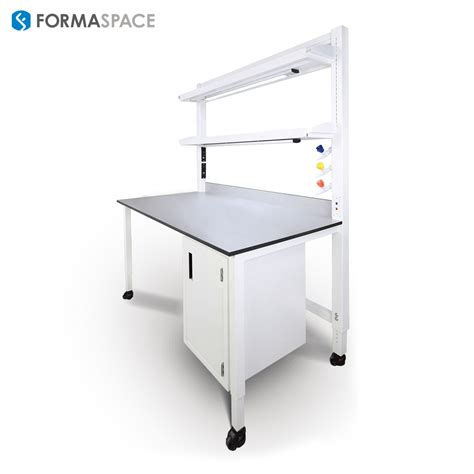 lab bench formaspace executives presenting new product at lab design