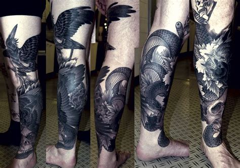 raven and snake tattoo by phetrus tattoo pinterest