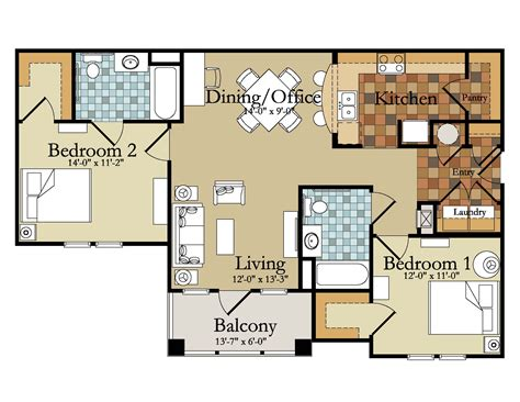 2 bedroom apartments floor plan interesting interior