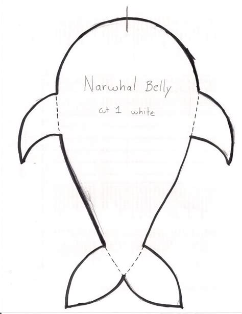 felt narwhal pattern a pod of plushie narwhals pattern instructions on page