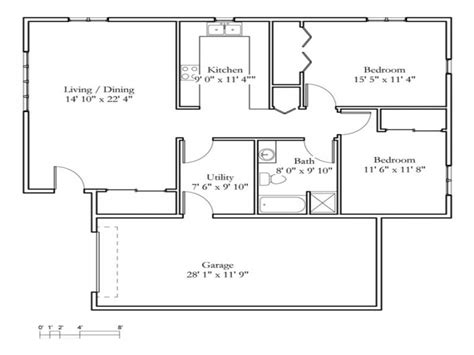 tiny cottage floor plans small 2 bedroom cottage 2 bedroom cottage floor plans