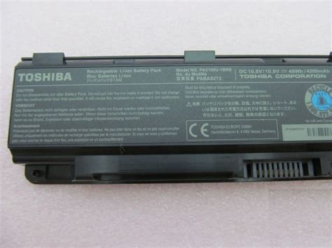 original toshiba battery pa5109u 1brs 6cell 48wh genuine satellite c55 c55t c75 ebay