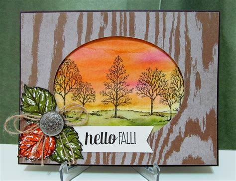 savvy handmade cards hello fall card for the paper players