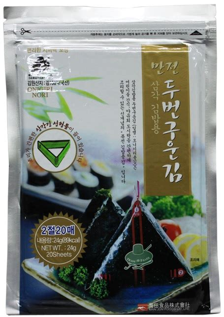 Manjun Triangle Onigiri Nori manjun triangle sushi nori onigiri from manjun foods co