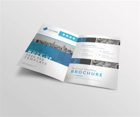 Bi Fold A4 Brochure Mock Up Psd Template Free Download A4 Size Brochure Templates Psd Free