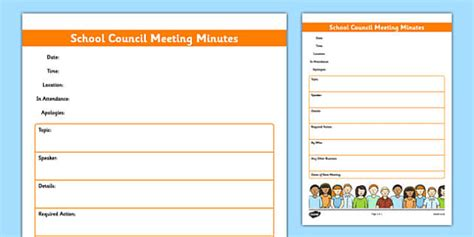 School Council Meeting Minutes Template School Council Sunday School Meeting Agenda Template