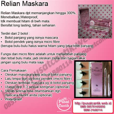 Maskara Relian Pink relian mascara pink series toko kosmetik terpercaya
