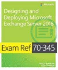 ref 70 765 provisioning sql databases books 70 345 designing and deploying microsoft exchange