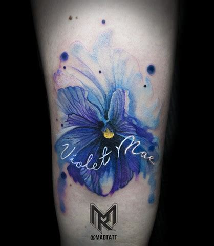 tattoo pictures of violets blue violets tattoos watercolour google search love