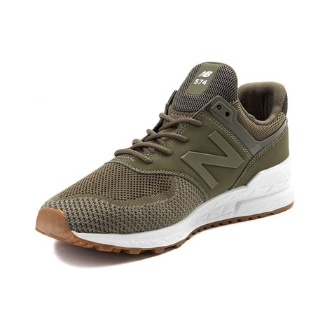 sport shoes new balance mens new balance 574 sport athletic shoe green 401667