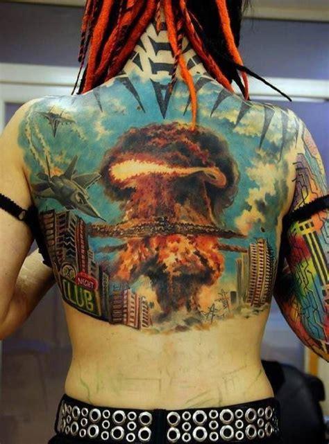 mushroom cloud tattoo 41 best cloud skull tattoos designs images on