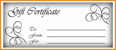 free printable gift certificate template 4 free printable gift certificate templates budget template