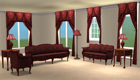 sims 2 living room sets mod the sims damask livingroom sets