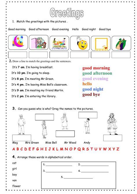 greetings worksheets for greetings interactive worksheet
