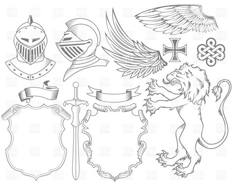 heraldic design elements vector heraldry symbols clip art car interior design