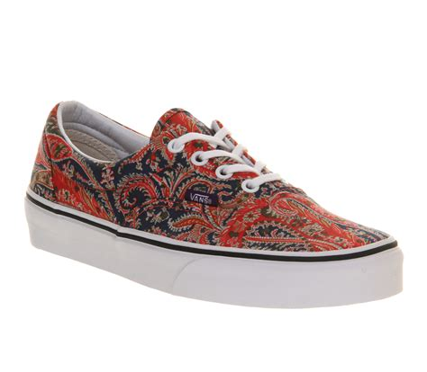 vans era liberty paisley navy unisex sports