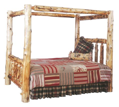 log bedroom sets traditional cedar youth canopy log bedroom set from
