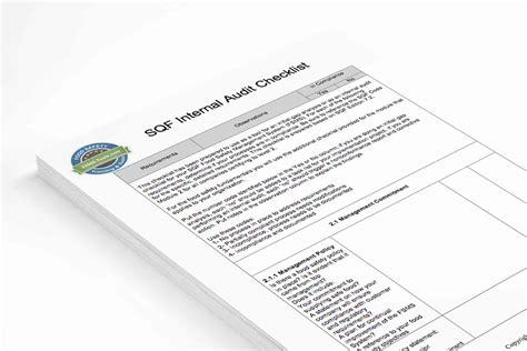 Food Safety Internal Audit Checklists Download Fsvp Program Template