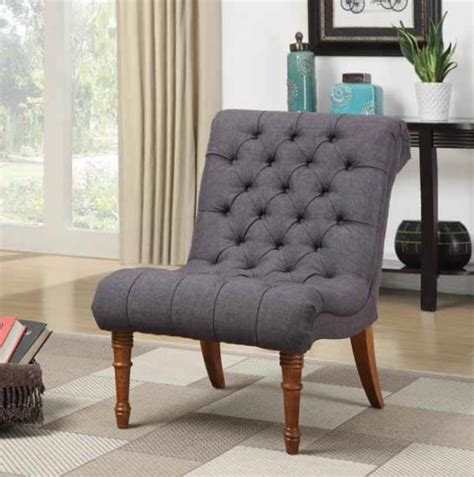 Grey Statement Chair Tufted Accent Chair Statement Furnishings Outlet