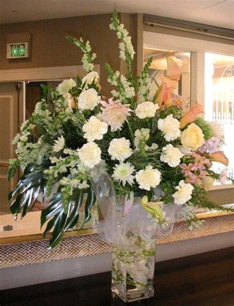 big wedding flower arrangements hotel lobby flower arrangements are big california