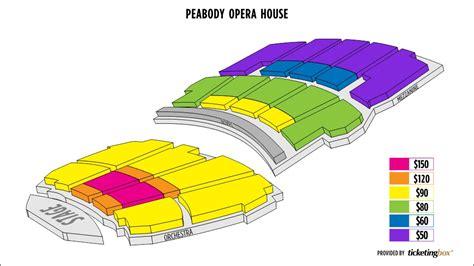peabody opera house seating chart i wireless center seating chart